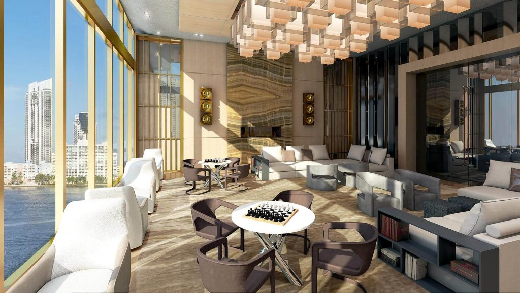 prive at island estates social room