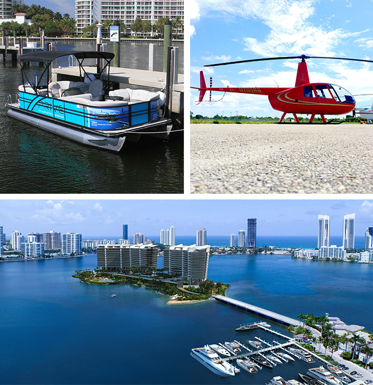 prive at island estates helicopter tours