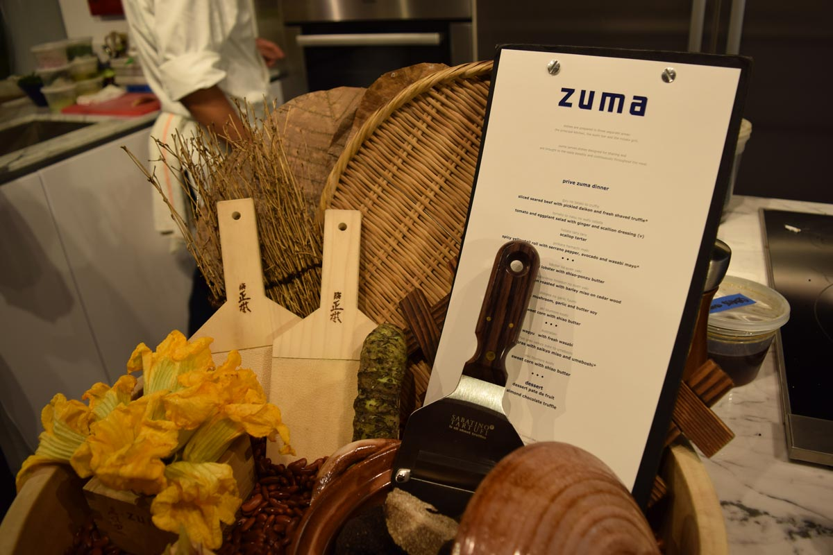 prive at island estates zuma kitchen event