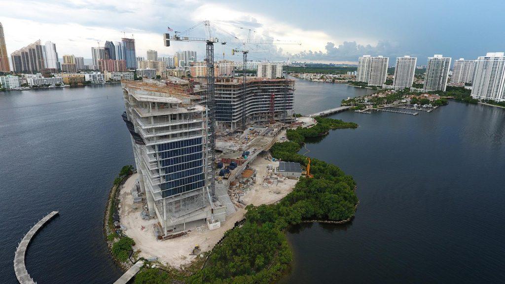 prive at island estates miami luxury condo progress