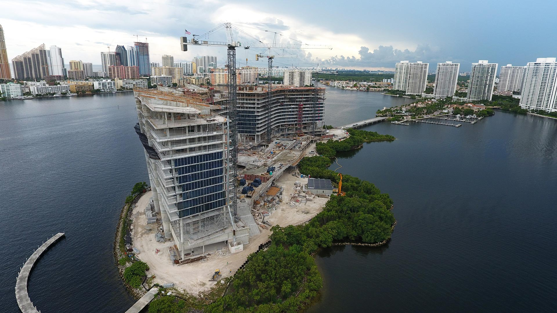 prive at island estates construction september 2016